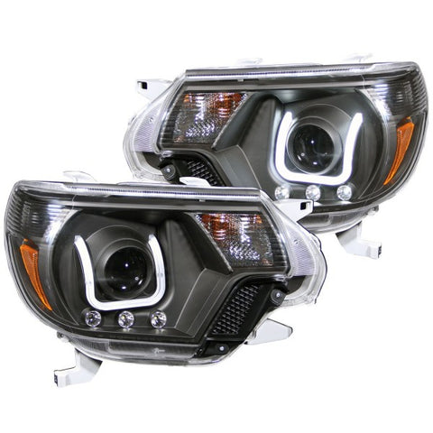 Anzo Headlights - Black w/ Amber Reflectors 111290 ANZO111290