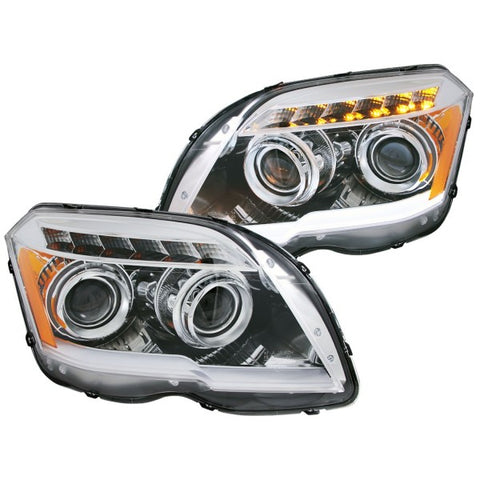 Anzo Headlights - Chrome w/ Amber Reflectors 111295 ANZO111295