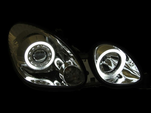 Anzo Headlights - Chrome w/Amber Reflectors 121143 ANZO121143