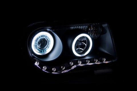 Anzo Headlights - Black w/ Amber Reflector 121251 ANZO121251