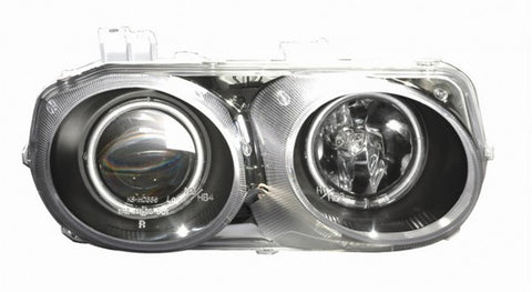 Anzo Headlights - Black w/ Amber Reflector 121256 ANZO121256