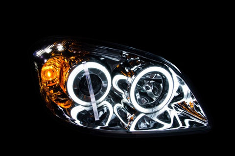 Anzo Headlights - Black w/ Amber Reflector 121278 ANZO121278
