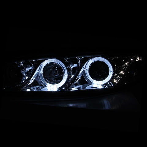 Anzo Headlights - Chrome w/Amber Reflector 121452 ANZO121452