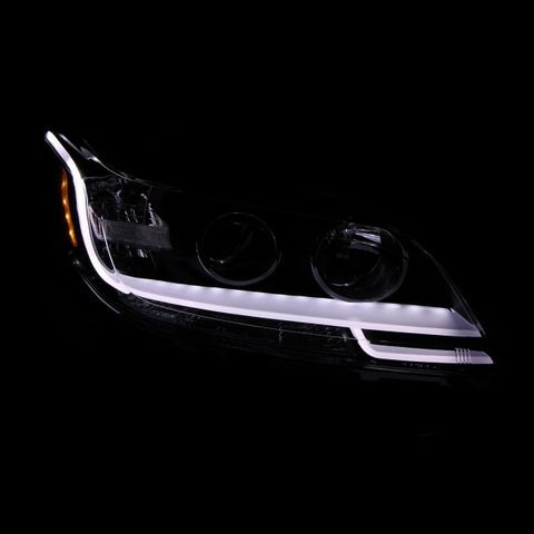 Anzo Headlights - Black w/Amber Reflector 121466 ANZO121466