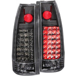 Anzo LED Tail Lights - Black 311006 ANZO311006
