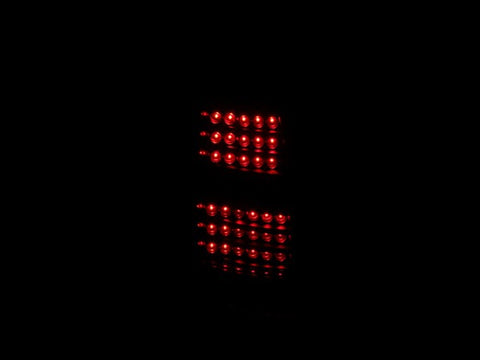 Anzo LED Tail Lights - Black 311077 ANZO311077