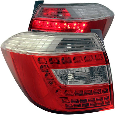 Anzo LED Tail Lights - Red/Clear 311185 ANZO311185