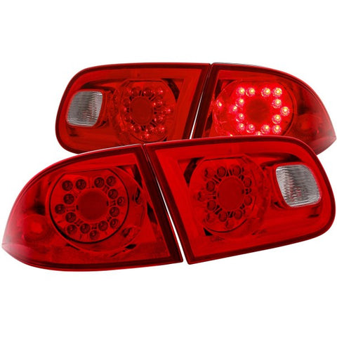 Anzo LED Tail Lights - Red/Clear 321097 ANZO321097