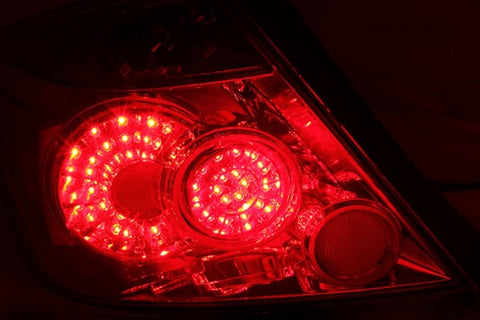 Anzo LED Tail Lights - Red/Clear 321213 ANZO321213