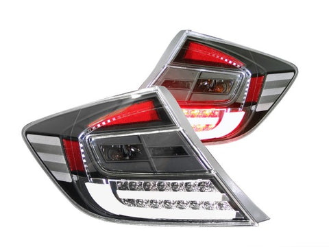 Anzo LED Tail Lights - Black 321305 ANZO321305