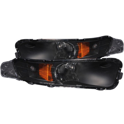 Anzo Bumper Lights - Black w/ Amber Reflector 511002 ANZO511002