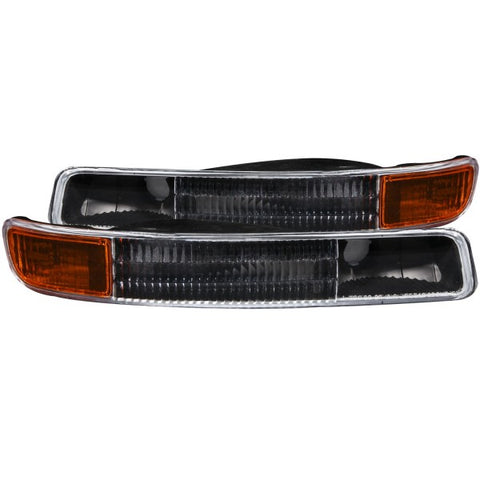 Anzo Bumper Lights - Black w/ Amber Reflector 511005 ANZO511005