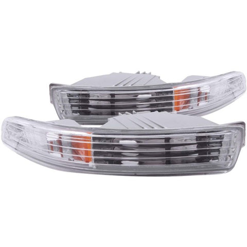 Anzo Bumper Lights - Chrome w/ Amber Reflector 511020 ANZO511020