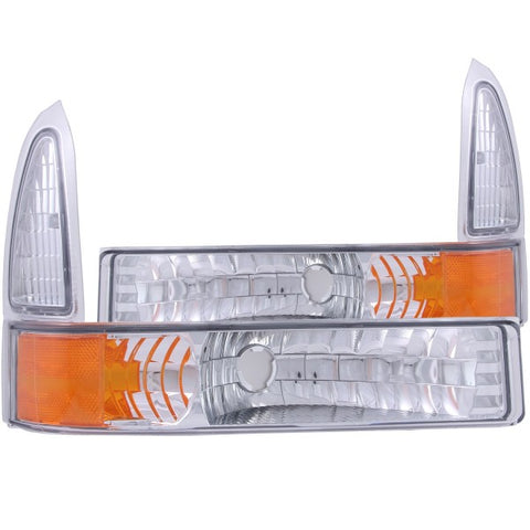 Anzo Parking Lights - Euro with Amber Reflector 511039 ANZO511039