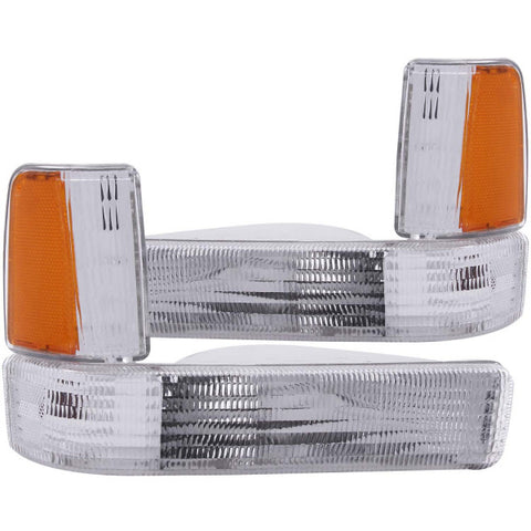 Anzo Parking Lights - Clear w/ Amber Reflectors 511047 ANZO511047