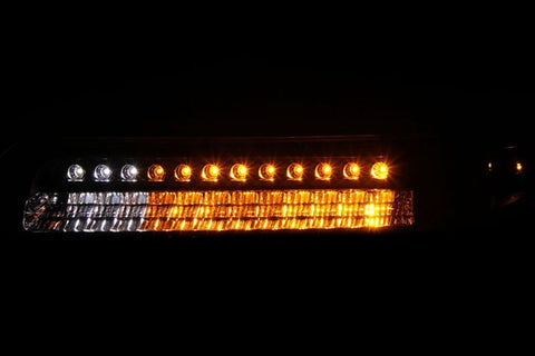 Anzo Parking Lights - Black w/ Amber Reflectors 511055 ANZO511055