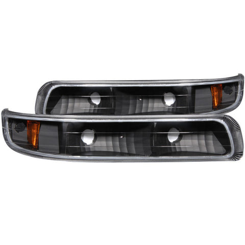 Anzo Parking Lights - Black w/ Amber Reflectors 511065 ANZO511065