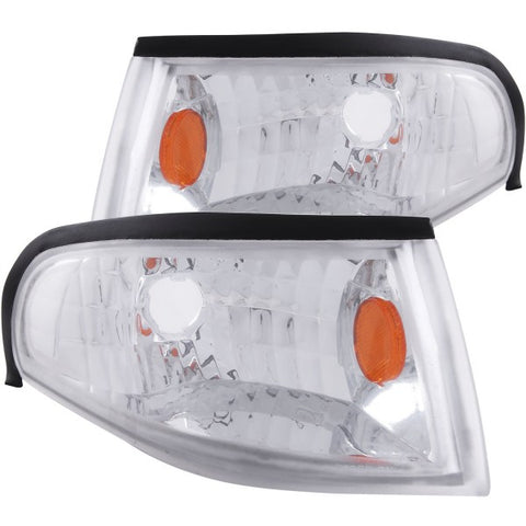 Anzo Corner Lights - Chrome w/ Amber Reflectors 521016 ANZO521016