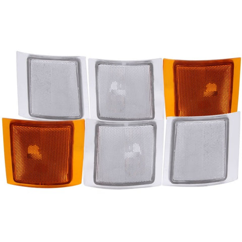 Anzo Corner Lights - 4 Clear & 2 Amber 521021 ANZO521021