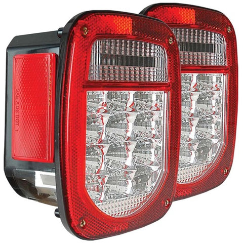 Anzo LED Tail Lights - Red/Clear 861082 ANZO861082