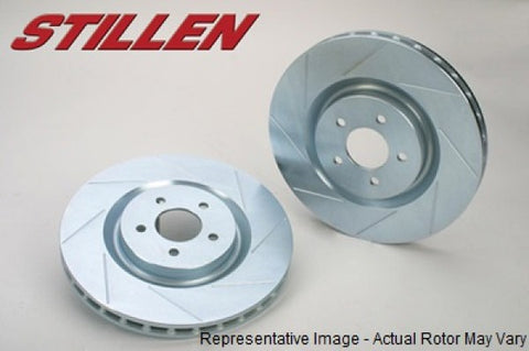 STILLEN BMW 535i, 545i, 550i, 645Ci, 650i Rear Slotted 1-Piece Sport Rotors BMW3