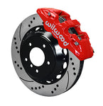 Wilwood BMW 335i AERO6 Front Big Brake Kit Red Caliper Drilled & Slotted Rotors