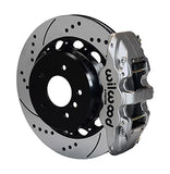 Wilwood BMW 328i AERO4 Big Brake Rear Brake Kit For OE Parking Brake Nickel Calipers Drilled & Slotted RotorsN