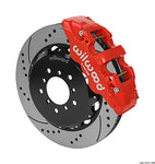 Wilwood BMW M3 AERO6 Front Big Brake Kit Red Caliper Drilled & Slotted Rotors