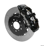 Wilwood BMW M3 AERO6 Front Big Brake Kit Black Calipers Slotted Rotors