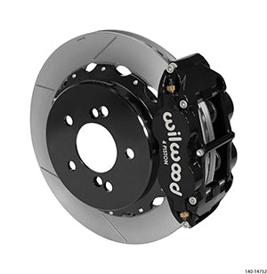 Wilwood BMW M3 Forged Narrow Superlite 4R Big Brake Rear Brake Kit For OE Parking Brake Black Calipers Slotted Rotors