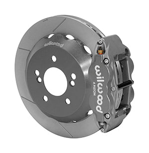 Wilwood BMW M3 Forged Narrow Superlite 4R Big Brake Rear Brake Kit (Race) Black Calipers Slotted Rotors