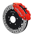 Wilwood BMW Z3 Forged Narrow Superlite 6R Front Big Brake Kit (Hat) Red Caliper Drilled & Slotted Rotors