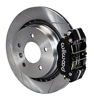 Wilwood BMW M3 Dynapro Rear Brake Kit For OE Parking Brake Black Calipers Drilled & Slotted Rotors