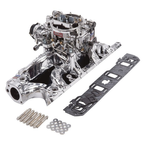 Edelbrock Single-Quad Intake Manifold/Carburetor Kit 20334 EDE20334