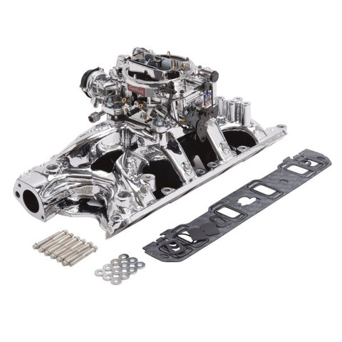 Edelbrock Single-Quad Intake Manifold/Carburetor Kit 20344 EDE20344