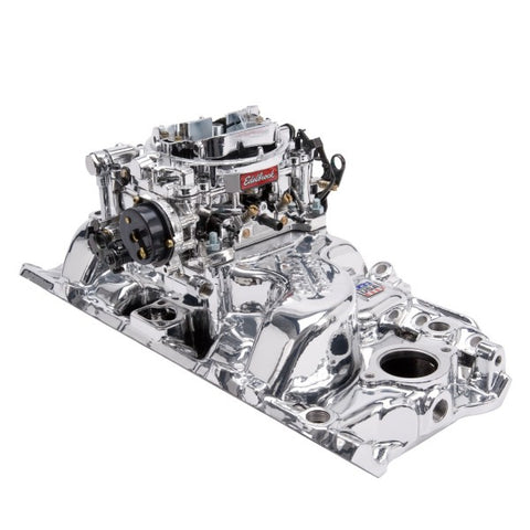 Edelbrock Single-Quad Intake Manifold/Carburetor Kit 20614 EDE20614