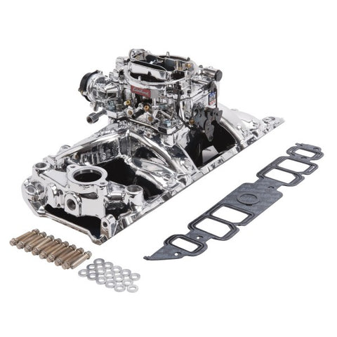 Edelbrock Single-Quad Intake Manifold/Carburetor Kit 20644 EDE20644