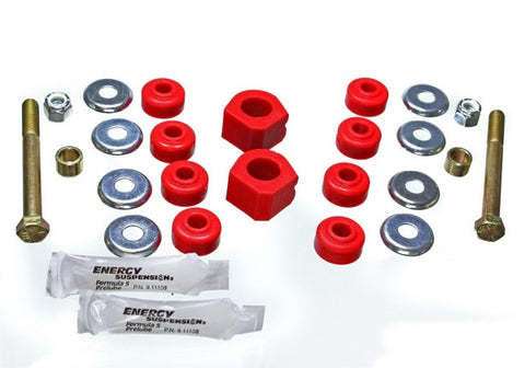 Energy Suspension Front Sway-Bar Bushings Kit & End Links - Red 16.5120R ENE16.5