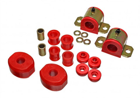 Energy Suspension Front Sway-Bar Bushings Kit and End Links - Red 5.5140R ENE5.5