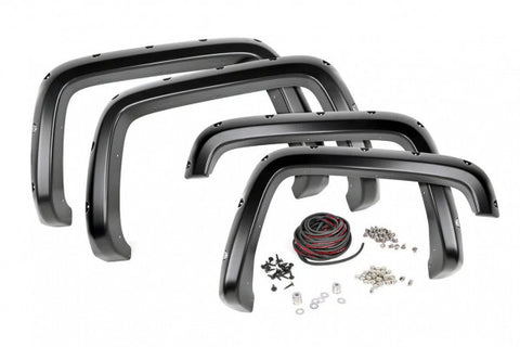 2016-2018 Chevrolet Silverado Fender Flares - 2WD/4WD 1500 (5.5ft Beds) Pocket Style [w/ Rivets] - FC11612GBA