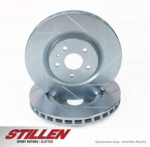 STILLEN Front Slotted 1-Piece Sport Rotors FOR8000S