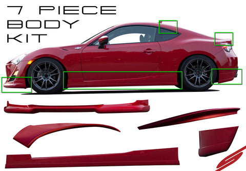 2013-2015 Scion FR-S 7-Piece Complete Body Kit - KB21022F