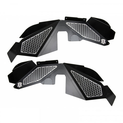 2007-2018 Jeep Wrangler Fender Liner Kit - Jk 2WD/4WD (Black Mesh Trim) - 22050D