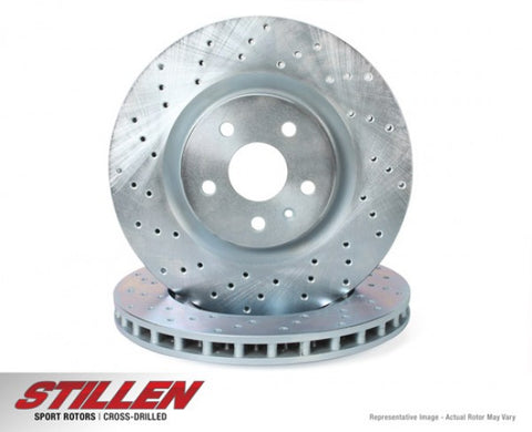 STILLEN Front Cross Drilled 1-Piece Sport Rotors - Standard Brakes (Models Witho