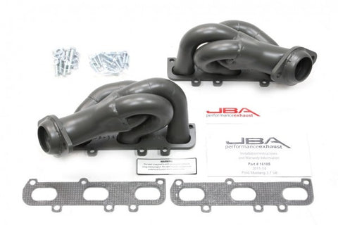 JBA 2011-2014 Ford Mustang V6 Cat4Ward Shorty Header - Titanium 1618SJT JBA1618S