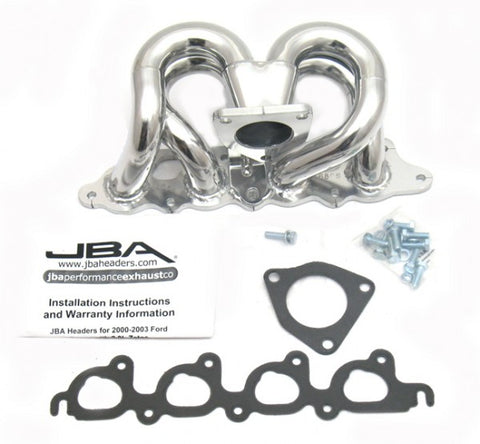 JBA Cat4Ward Shorty Header - Silver 1680SJS JBA1680SJS
