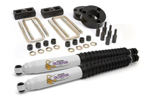 Daystar Suspension Combo Kit With Shocks - Front 2.5in Lift / Rear 1.5in Lift KT