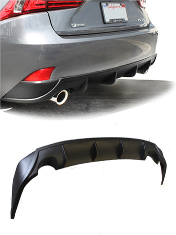 2014-2016 Lexus IS250, IS350 Rear Diffuser [Matte Black] - KB31002MB