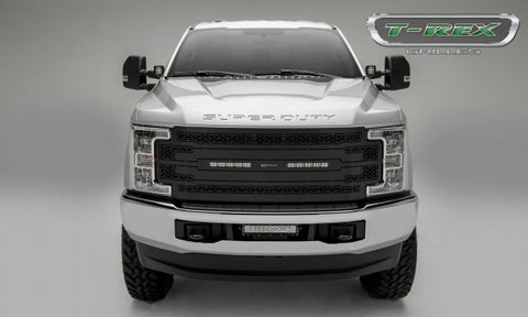 2017-2018 Ford F250/F350 Super Duty (2) 10in LED Light Bars Grille Replacements - Black