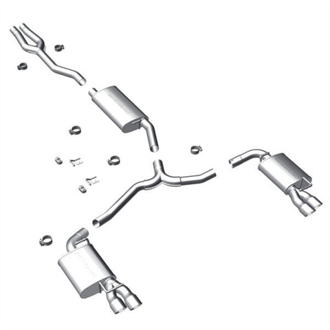 Magnaflow Stainless Steel Cat-Back Exhaust; Split Rear Exit 15082 MA15082